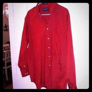 Giorgio Brutini Red Long Sleeved Dress Shirt